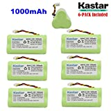 Kastar 6-PACK AAA 3.6V 1000mAh Ni-MH Rechargeable Battery Replacement for Zebra/Motorola Symbol 82-67705-01 Symbol LS-4278 LS4278-M BTRY-LS42RAAOE-01 DS-6878 Cordless Bluetooth Laser Barcode Scanner