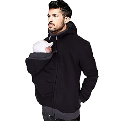 91314f1e607 Men s Kangaroo Hoodie for Dad and Baby Carrier Coat Baby Carriers  Sweatshirt Pullover ...