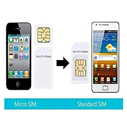 (20 Pack) SIM CARD Adapter Nano to Micro - Nano to Regular - Micro to Regular With eject pin - Black