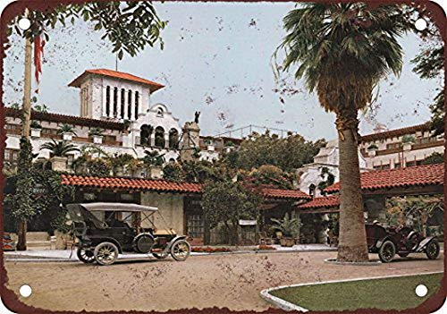 Lagoog Glenwood Mission Riverside California 8X12 Inches Vintage Tin Sign for Wall Garage Retro Decor