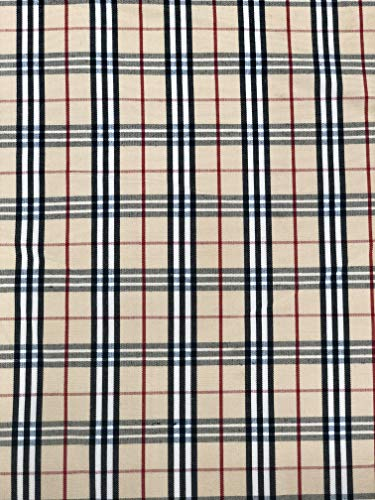 "58"" Scotch Designer Plaid Poly Fabric School Tartan Plaid 100% Polyester Fabric by The Yard from Unknown"