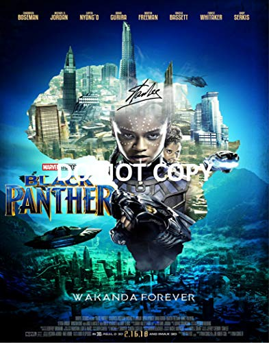 Stan Lee comic book legend reprint signed autographed Marvel Black Panther 11x14 poster photo #1 RP