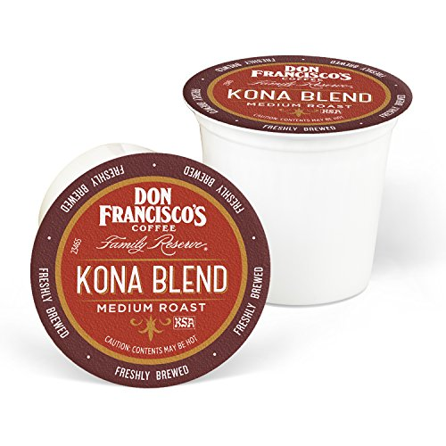 Don Francisco's Kona Blend, In short supply 100% Arabica Coffee, Medium Roast, Single-Serve Pods for Keurig, 100-Count, Family Reserve