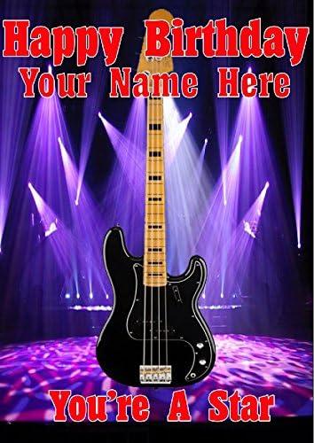 Precision Bass guitarra cptmi5 feliz cumpleaños A5 Tarjeta de ...
