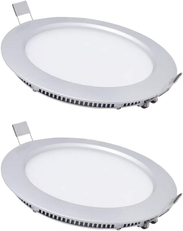 15W LED Spots Encastrables Dimmable,pour Plafonnier Extra Plat Cuisine et sdb plafond,220V,Rond,2800-3200K,Blanc Chaud,Aluminium Blanc Mat,SPDYCESS