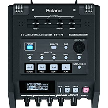 roland r 44 solid state 4 channel portable field recorder electronics. Black Bedroom Furniture Sets. Home Design Ideas