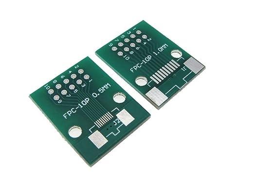 FPC 12 PIN 1 zu DIP Adapter PCB Brett SMD Konverter 10 Stück FPC 12PIN 0,5