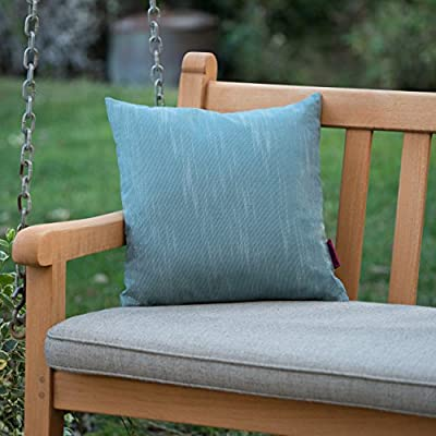 "Christopher Knight Home Belflower Outdoor Water Resistant Square Pillow, 16"" x 16"", Teal - Add some color to your patio set with this water resistant outdoor pillow Made from top quality fabric that won't absorb every drop of water and dirt, this pillow was designed with both the outdoors and your patio in mind Manufactured in China - patio, outdoor-throw-pillows, outdoor-decor - 51fEifYx5YL. SS400  -"