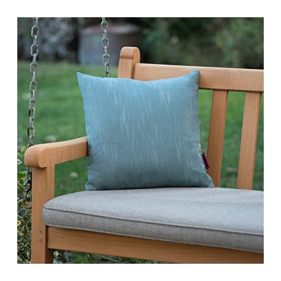 """Christopher Knight Home Belflower Outdoor Water Resistant Square Pillow, 16"""" x 16"""", Teal - Add some color to your patio set with this water resistant outdoor pillow Made from top quality fabric that won't absorb every drop of water and dirt, this pillow was designed with both the outdoors and your patio in mind Manufactured in China - patio, outdoor-throw-pillows, outdoor-decor - 51fEifYx5YL. SS570  -"""