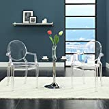 Modway Casper Modern Acrylic Dining Armchair in Clear, 1 Chair