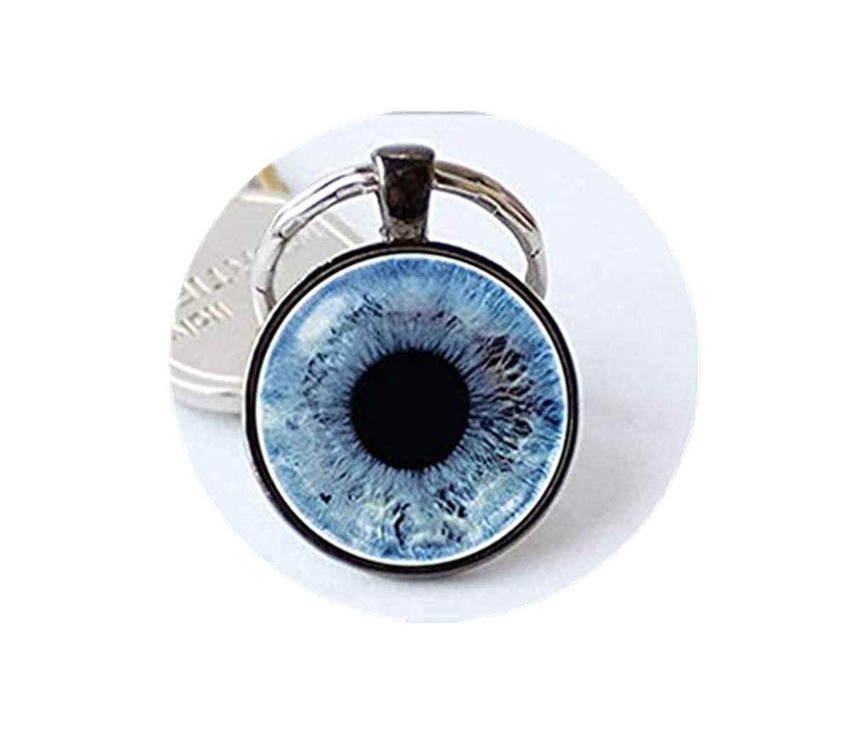 Amazon.com: Llavero de ojo de diablo azul con ojo humano ...