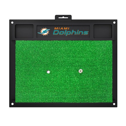 FANMATS 15465 Miami Dolphins Golf Hitting Mat