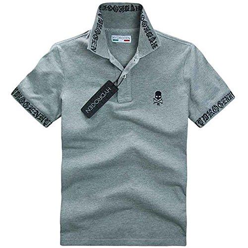 脱臼する撤退屋内でHYDROGEN ポロシャツ メンズ ゴルフ コットン 綿 100% 半袖 夏 刺繍 7536 [並行輸入品]