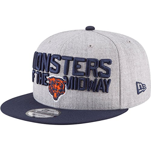 New Era Authentic Chicago Bears Heather Gray/Navy 2018 NFL Draft Official On-Stage 9FIFTY Snapback Adjustable Hat