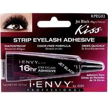 27ca0b4978c Amazon.com : Kiss I-Envy 16hr Strip Eyelash Adhesive Jet Black (KPEG02) :  Beauty