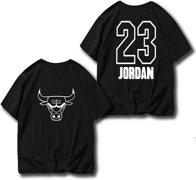 Chicago Bulls No. 23 Jordan Camiseta de Manga Corta de Baloncesto, Camiseta de Manga Corta de Pareja: Amazon.es: Ropa y accesorios