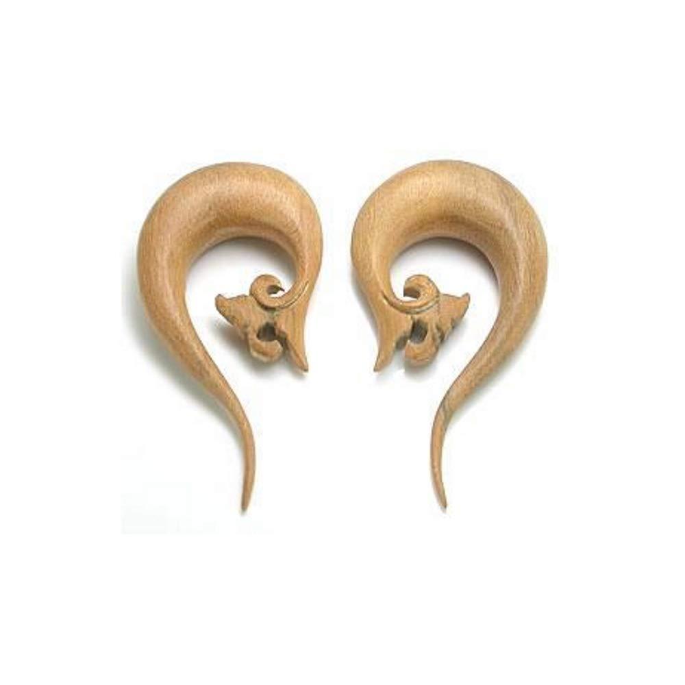 Price Per 1 Leaf Cascade Natural Wood Earrings Organic Body Jewelry