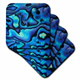 3dRose cst_73908_3 Pattern of Paua Shell 'Abalone', New Zealand-AU02 DWA4678-David Wall-Ceramic Tile Coasters, Set of 4