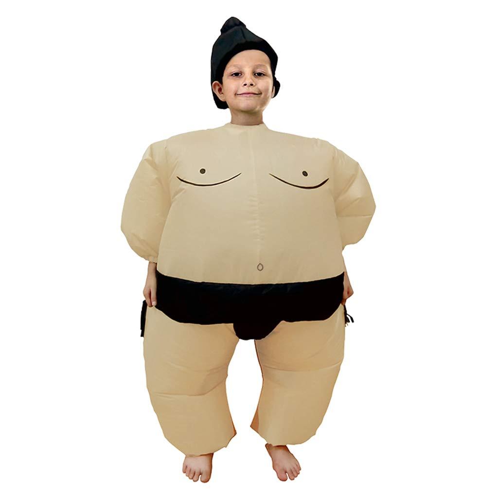 PoppyCos Inflatable Kids Sumo Wrestler Wrestling Suits Halloween Costume