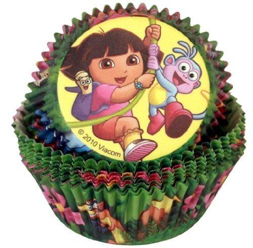 Wilton 50pk Dora The Explorer Cupcake Cake Baking Cups Cases Holders Birthday