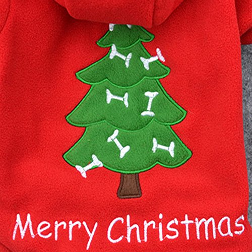 Roagerly Christmas Pet Puppy Dog Clothes Santa Claus Costume Outwear Thick Coat Apparel