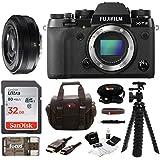 Fujifilm X-T2 Mirrorless Digital Camera (Body Only) w/27mm F2.8 R Lens + Focus 32GB Gadget Bag