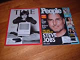 img - for Lot of 2 Steve Jobs Commemorative Issues-Time Magazine, October 17. 2011 issue & People magazine, October 24, 2011 issue. book / textbook / text book