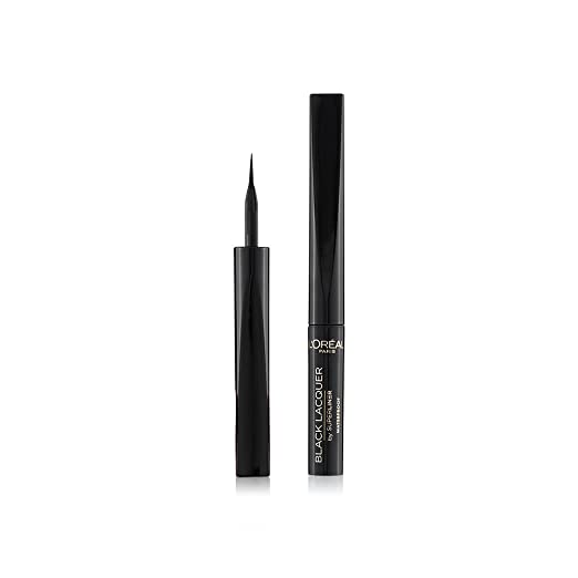 L'Oreal Paris Super Liner Black Lacquer Eyeliner, Waterproof, 1ml Eyeliners at amazon