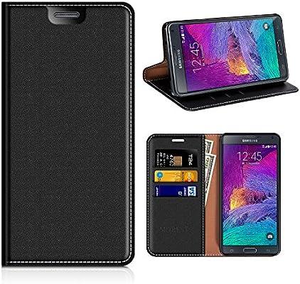 Funda Samsung Galaxy Note 4, Mobest Funda Cuero Samsung Galaxy Note 4, Funda Cartera, Funda Billetera, Carcasa en libro, Ranuras para Tarjetas, ...