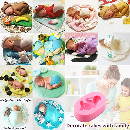 SHAFIRE Sleeping Baby Silicone Mould Cake Mould