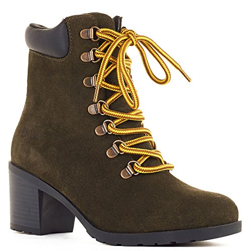 Cougar Women's Angie Ankle Boot,Olive Suede,US 6 M by Cougar