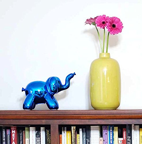 Made By Humans Balloon Elephant Money Bank, Cool and Unique Ceramic Piggy Bank with High-Gloss Finish, Blue by Made By Humans (Image #2)