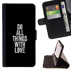 Momo Phone Case / Flip Funda de Cuero Case Cover - HACER TODAS LAS COSAS CON AMOR - LG OPTIMUS L90