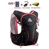 AONIJE Trail Running Backpack Vest Hydration Packs for Men and Women Ultralight Professional 5L Outdoor Backpack for Biking Walking Hiking Bicycle Cycling Marathon Running Race