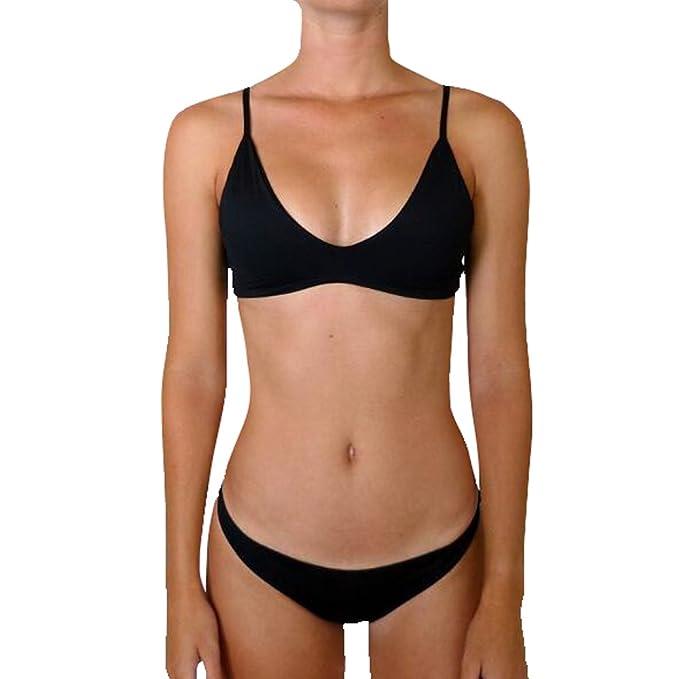 a3725b1538fd Sujetador de correa sexy Sport Girls Two Pieces (con almohadilla para el  pecho) Traje de baño moda verano playa traje de baño Bikinis para mujeres y  ...
