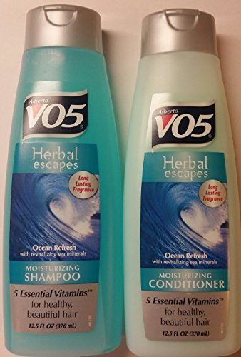 (Alberto VO5 Herbal Escapes Ocean Refresh Shampoo and Conditioner Set - One 12.5 Fl Oz Shampoo and One 12.5 Fl Oz Conditioner )