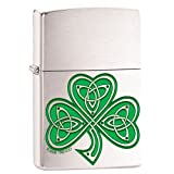 Shamrock Clover Knot Irish Celtic Chrome Zippo Lighter