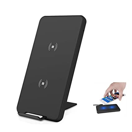 Qi Fast Wireless Charger,10W Charging Pad, Portable Foldable Ultra-Thin Charging Stand for Galaxy S10/S10+/S10e/S9/S9+/S8/S8+ /S7 Edge/S6 ...