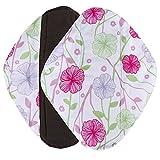 #9: Menstrual Pads Reusable Sanitary Pads Covermason Reusable Bamboo Cloth Washable Menstrual Pad Mama Sanitary Towel Pad (M, white)