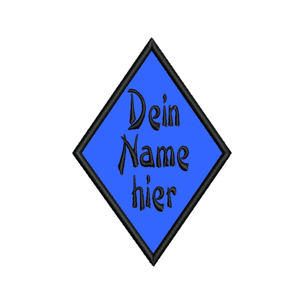 smartoutdoor Rauten-Aufn/äher f/ür deinen Wunschtext viele Farben und Gr/ö/ßen 9x6,3cm
