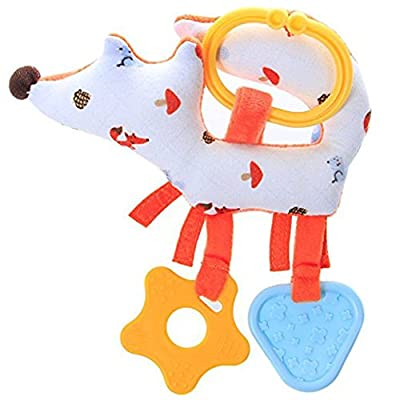Hessie Baby BPA Free Silicon Teething Toys, Gum Massager with Animal - Orange Fox : Baby