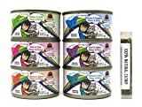 Weruva B.F.F. OMG - Best Feline Friend Oh My Gravy! Canned Wet Cat Food Variety Pack, 6 Flavors, 2.8 Ounces Each (12 Total Cans) and 1 .2 Ounce Tube of Catnip