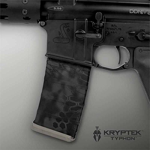 Ultimate Arms Gear Mag Wraps 2 Pack of Kryptek Typhon Black Camo Camouflage AR15/M4/M16 .223 5.56 30rd Mag Waterproof Durable Skin Kit - USA MADE