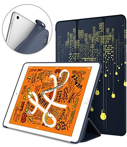 DTTO iPad Mini 5th Generation 2019 Case, [Gentle Series] Smart Cover Trifold Stand Soft Back Cover for iPad Mini 5 2019/iPad Mini 4 2015 [Auto Sleep/Wake], City Lights