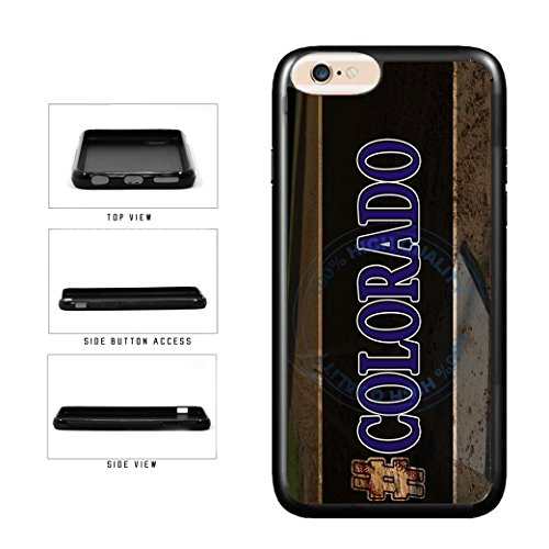 BleuReign(TM) Hashtag Colorado #Colorado Baseball Team TPU RUBBER SILICONE Phone Case Back Cover For Apple iPhone 6 Plus and iPhone 6s Plus (5.5 Inches Screen)