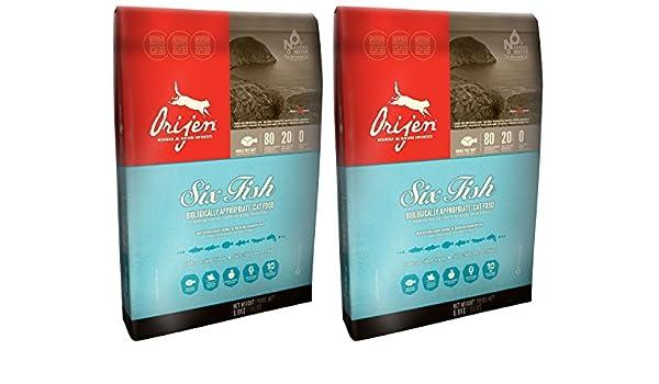 2 x 5,4 kg Orijen 6 peces seco gato y gatito alimentos Multibuy no 2 x 6,8 kg: Amazon.es: Productos para mascotas