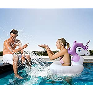 Inflatable Unicorn Pool Float – Mini Raft Tube – Outdoor Swimming – Unicorn Pool Toy for Baby Infants & Adults