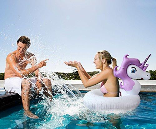 Inflatable Unicorn Pool Float - Mini Raft Tube - Outdoor Swimming - Unicorn Pool Toy For Baby Infants & adults