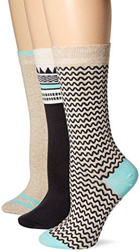Timberland Womens Geo Pattern Crew Sock 3 Pk,