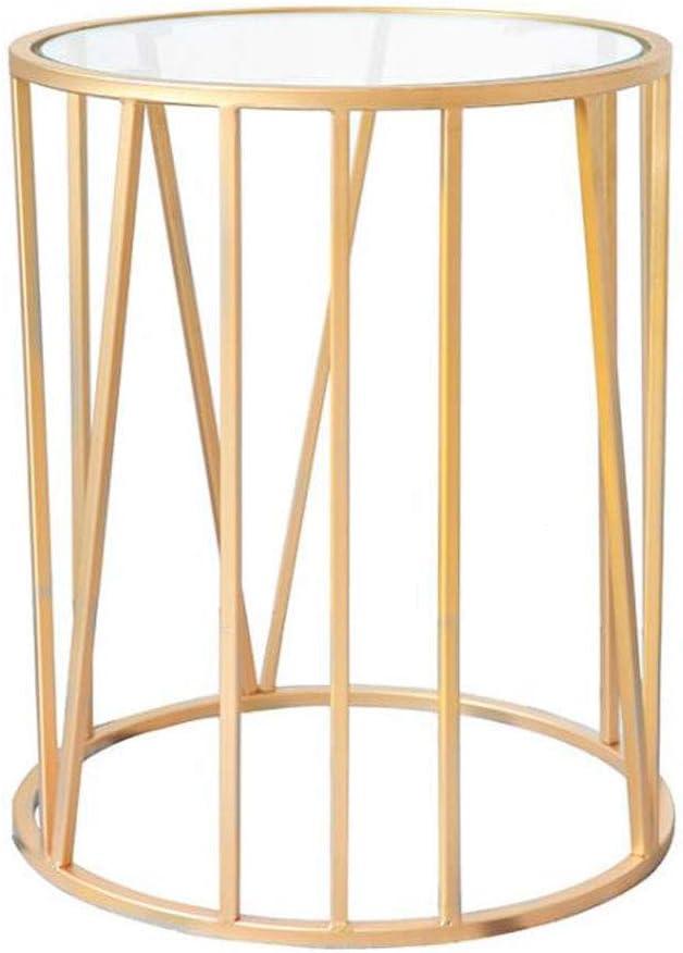XCJ Mesa de Centro Mesas de salón Mesa velador Mesa de Centro de Metal Mesa de Estar Mesa de jardín Mesa de Ocio Mesa de Lectura 40 * 40 * 65 cm
